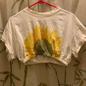 Tops - Sunflower Crop Top (Size L)